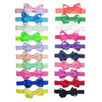 Little Cuties 20-Pack Grosgrain Bow Head Wraps