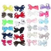 Little Cuties 24-Pack Mini Bow Hair Clips