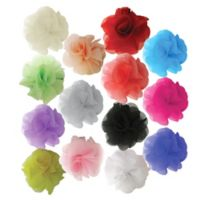 Little Cuties 14-Pack Chiffon Flower Hair Clips