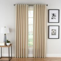 Honeycomb Matelassé 63-Inch Rod Pocket/Back Tab Window Curtain Panel in Champagne