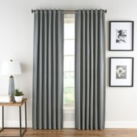 Honeycomb Matelassé 95-Inch Rod Pocket/Back Tab Window Curtain Panel in Steel Blue