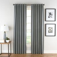Honeycomb Matelassé 63-Inch Rod Pocket/Back Tab Window Curtain Panel in Steel Blue