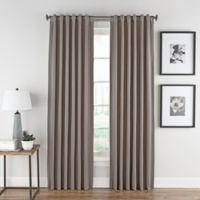 Honeycomb Matelassé 63-Inch Rod Pocket/Back Tab Window Curtain Panel in Haze