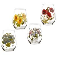Portmeirion® Botanic Garden 20 oz. Stemless Wine Glasses (Set of 4)