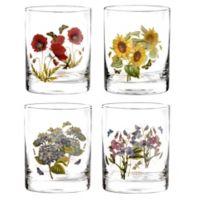 Portmeirion® Botanic Garden 12 oz. Double Old Fashioned Glasses (Set of 4)