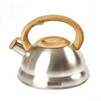 Frigidaire Wood Soft Handle 3.2 qt. Tea Kettle in Light Wood