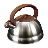 Frigidaire Wood Soft Handle 3.2 qt. Tea Kettle in Dark Wood