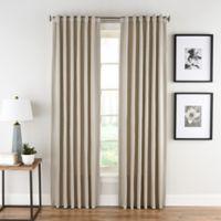 Honeycomb Matelassé 63-Inch Rod Pocket/Back Tab Window Curtain Panel in Linen