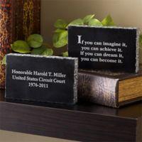 Inspiring Messages Engraved Marble Legal Keepsake