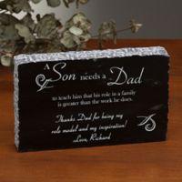 Why I Need Dad Engraved Marble Keepsake