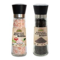 Himalayan Chef 2-Piece Salt and Pepper Grinders with Spices Set