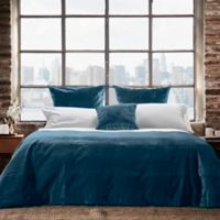 Frette At Home Realmonte King Coverlet in Aqua