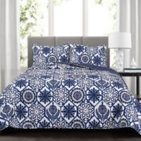 Lush Décor Marvel Reversible Full/Queen Quilt Set in Navy