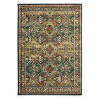Oriental Weavers Dawson Geometric 5'3 x 7'6 Area Rug in Teal/Brown