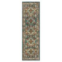 Oriental Weavers Dawson Geometric 7'6 Runner Rug in Teal/Brown