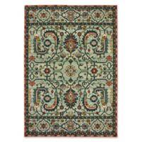 Oriental Weavers Dawson Woven 3'10 x 5'5 Area Rug in Green