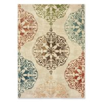 Oriental Weavers Dawson Woven 3'10 x 5'5 Area Rug in Ivory