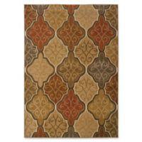 Oriental Weavers Kasbah 7'8 x 10'10 Area Rug in Orange