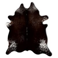 Natural Rugs Kobe Cowhide 5' x 7' Area Rug in Chocolate/White