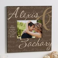 """""""Love Brought Us Together"""" 5-Inch x 7-Inch Wall Frame"""