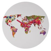 DENY Designs Bianca Green It's Your World 12-Inch Round Wall Clock