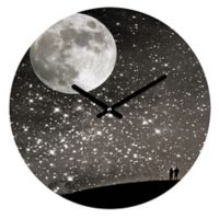 DENY Designs Shannon Clark Love Under the Stars 12-Inch Round Wall Clock