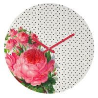 DENY Designs Allyson Johnson Floral Polka Dots 12-Inch Round Wall Clock