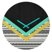 DENY Designs Mixed Aztec 1 12-Inch Round Wall Clock