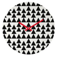 DENY Designs Holli Zollinger Triangles 12-Inch Round Wall Clock in Black