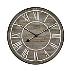 Yosemite Home Decor Rustic Age Oversize Wall Clock in Wood