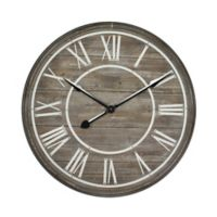 Yosemite Home Decor Rustic Age Oversize Wall Clock in Wood