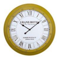 Yosemite Home Decor Illinois Watch Company Wall Clock in Mustard