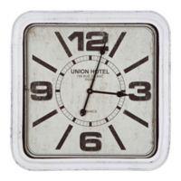 Yosemite Home Décor Union Hotel Paris Wall Clock in Black/White