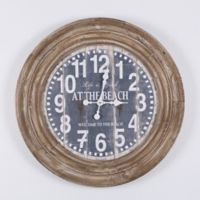 Yosemite Home Decor At the Beach Coastal Wood Wall Clock in Natural