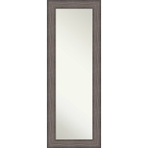 image of Amanti Country Barnwood On-The-Door/Wall 19.5-Inch x 53.5-Inch Mirror in Weathered Blue/Grey
