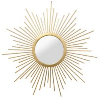 Stratton Home Décor 20-Inch Round Bella Wall Mirror in Gold