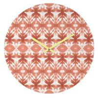 DENY Designs Wagner Campelo Shibori Tribal Rose 12-Inch Round Wall Clock