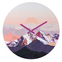 DENY Designs Iveta Abolina Peach Sunset 12-Inch Round Wall Clock
