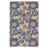 Liora Manne Garden Topaz 4'10 x 7'6 Indoor/Outdoor Area Rug in Blue