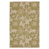 Liora Manne Garden Topaz 4'10 x 7'6 Indoor/Outdoor Area Rug in Meadow Green