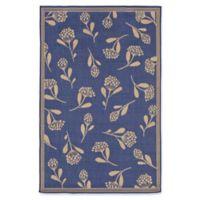 Liora Manne Summer Flower 7'10 x 9'10 Indoor/Outdoor Area Rug in Blue