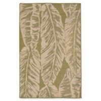 Liora Manne Banana Leaf 4'10 x 7'6 Indoor/Outdoor Area Rug in Green