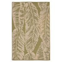 Liora Manne Banana Leaf 7'10 Aquare Indoor/Outdoor Area Rug in Green