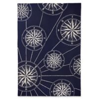 Liora Manne Compass 5' x 7'6 Indoor/Outdoor Area Rug in Navy