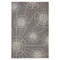 Liora Manne Compass 5' x 7'6 Indoor/Outdoor Area Rug in Grey