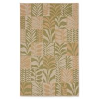 Liora Manne Box Leaves Meadow 4'10 x 7'6 Area Rug in Green