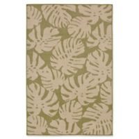 Liora Manne Fronds 2'3 x 7'6 Indoor/Outdoor Runner in Meadow Green
