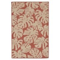 Liora Manne Fronds 7'6 Round Indoor/Outdoor Area Rug in Rust