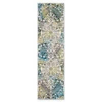 "Safavieh Watercolor 2'2"" x 12' Eve Rug in Peacock Blue"