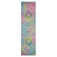 "Safavieh Watercolor 2'2"" x 10' Rene Rug in Fuchsia"